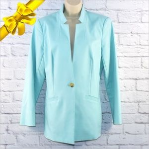 Chaus New York One Button Blazer ~ce06p1h15p1